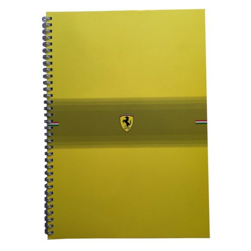 Ferrari Scudetto checkered Exercise Book, Yellow, 2014 - FansBRANDS