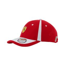 2018, Red, Adult, Ferrari Vettel Baseball Cap
