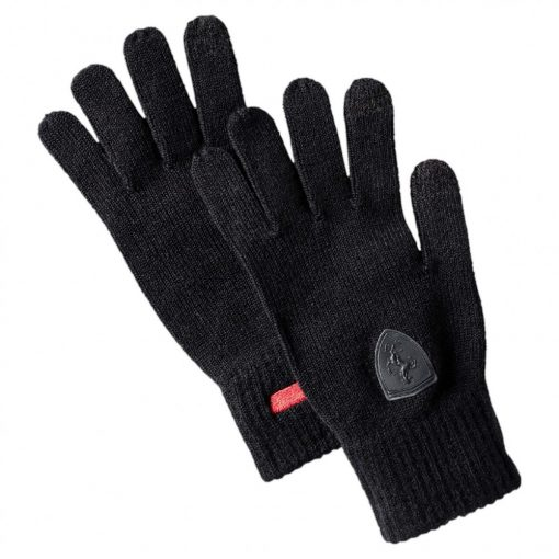 Puma Ferrari Knitted Scuderia Gloves, Black, 2017 - FansBRANDS