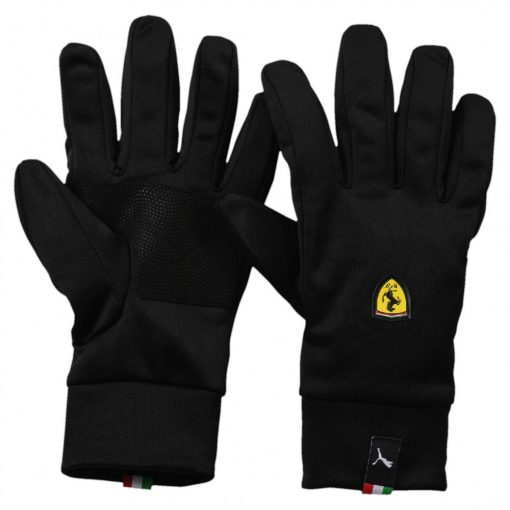 Puma Ferrari Scudetto Winter Gloves, Black, 2017 - FansBRANDS
