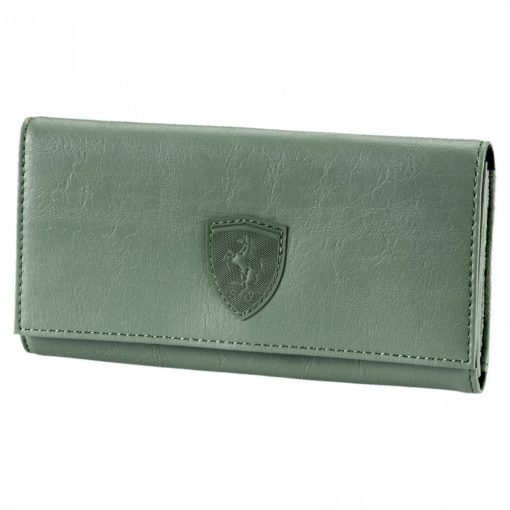 Puma Ferrari Lifestyle Womens Wallet, Green, 2018 - FansBRANDS
