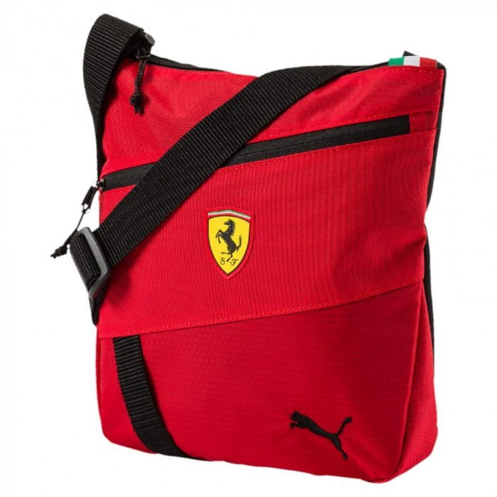 2017, Red, 26x24x6 cm, Puma Ferrari Fanwear Shoulder Bag