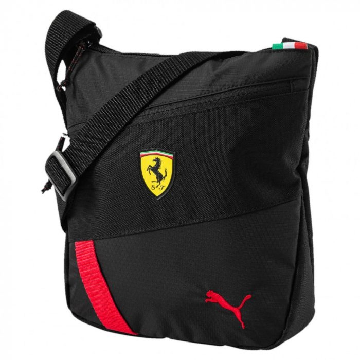 2017, Black, 26x24x6 cm, Puma Ferrari Fanwear Shoulder Bag