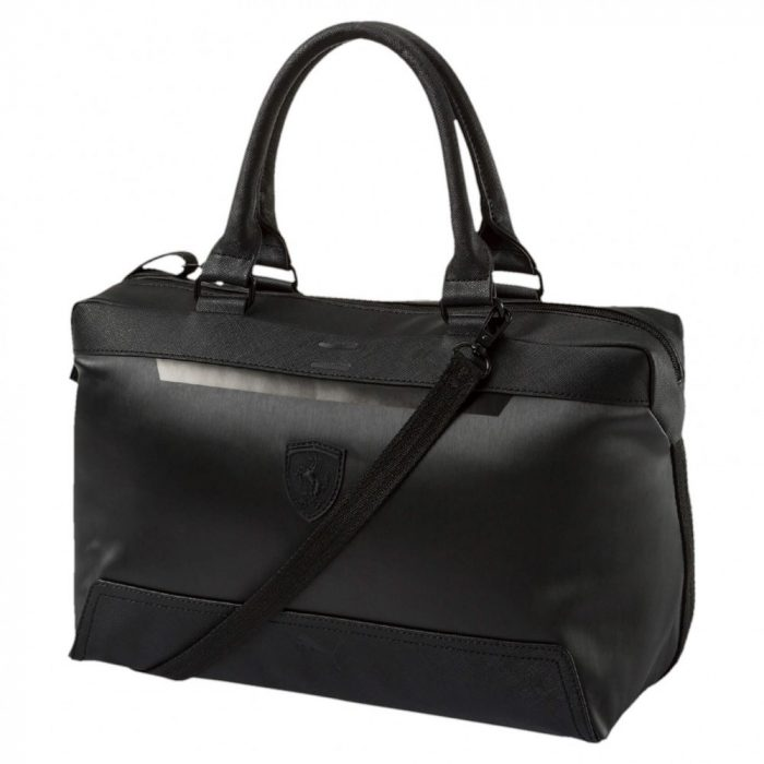 2017, Black, 33x23x20 cm, Puma Ferrari Womens Scudetto LS Handbag
