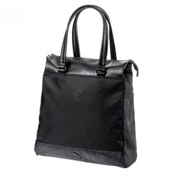2018, Black, 39x35x18 cm, Puma Ferrari Shopper Womens Bag