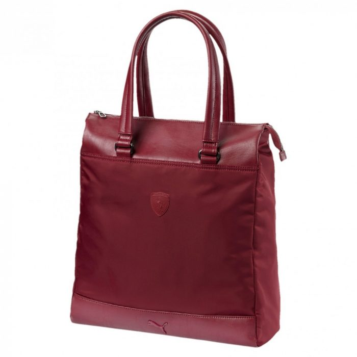 2018, Claret, 39x35x18 cm, Puma Ferrari Shopper Womens Bag