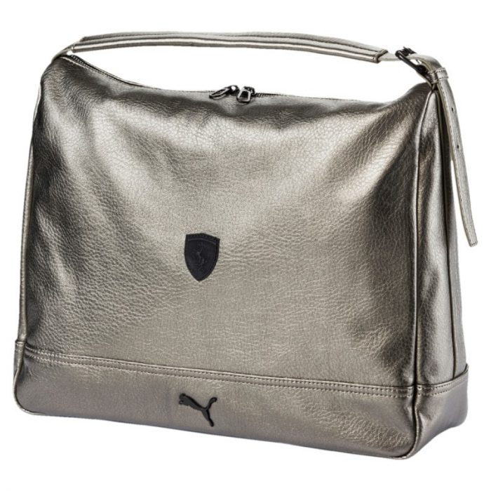 2018, Silver, Puma Ferrari LS Hobo Womens Bag