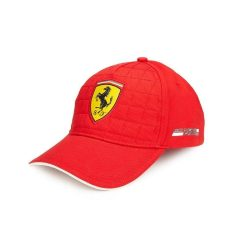 2016, Red, Adult, Ferrari Quilt Baseball Cap