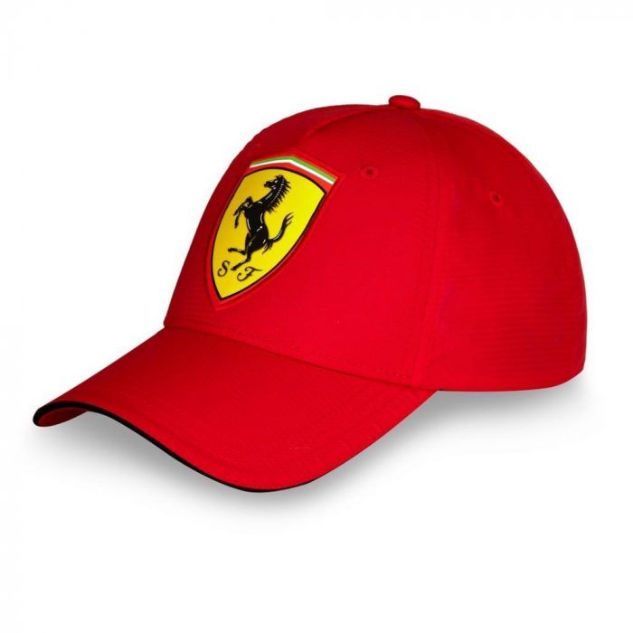 2016, Red, Adult, Ferrari Carbon Baseball Cap