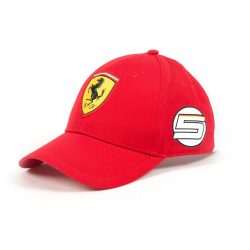 2017, Red, Adult, Ferrari Vettel Fan Baseball Cap