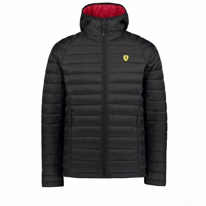 2018, Black, S, Ferrari Padded Mens Jacket