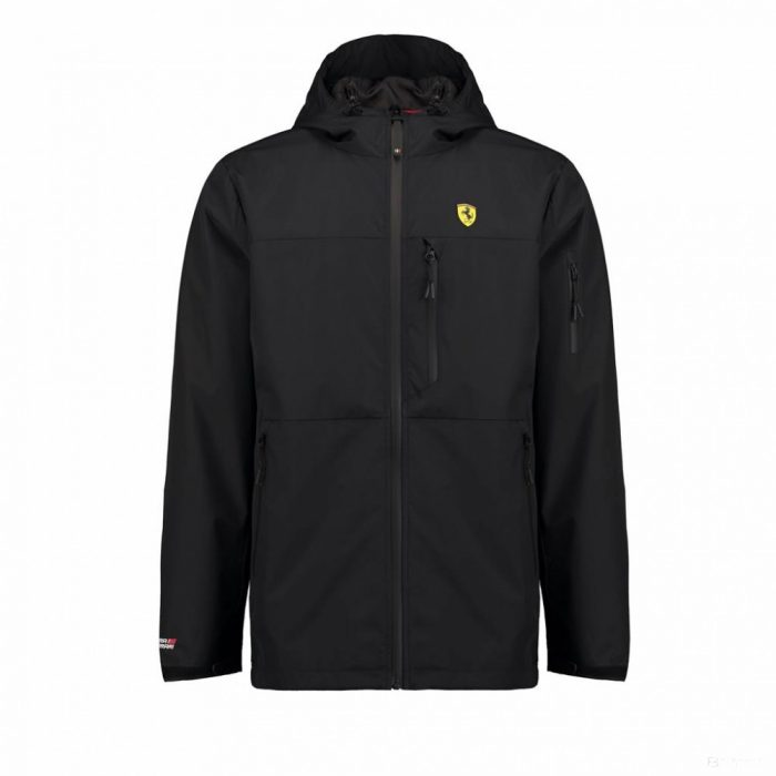 2018, Black, M, Ferrari Mens Rain Jacket