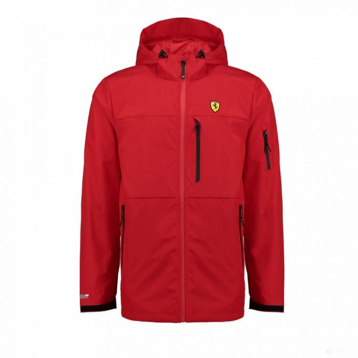 2018, Red, M, Ferrari Mens Rain Jacket