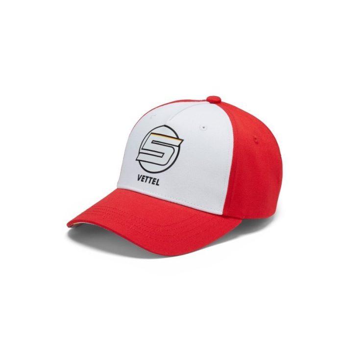 2018, Red, Adult, Ferrari Vettel VETTEL5 Baseball Cap