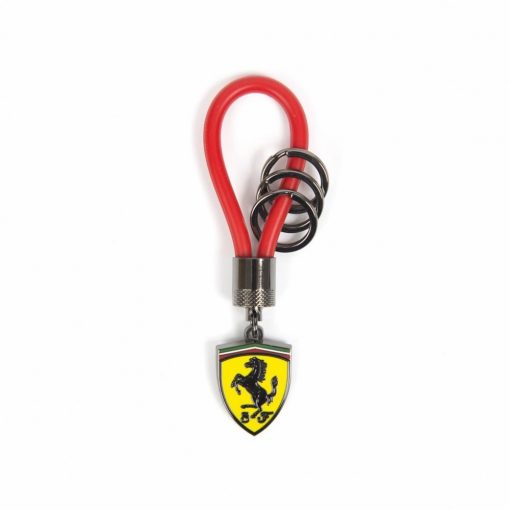 Ferrari Rubber Strap Keychain, Black, 2018 - FansBRANDS