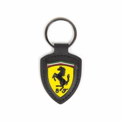 2018, Black, Ferrari Scudetto Leather Keyring