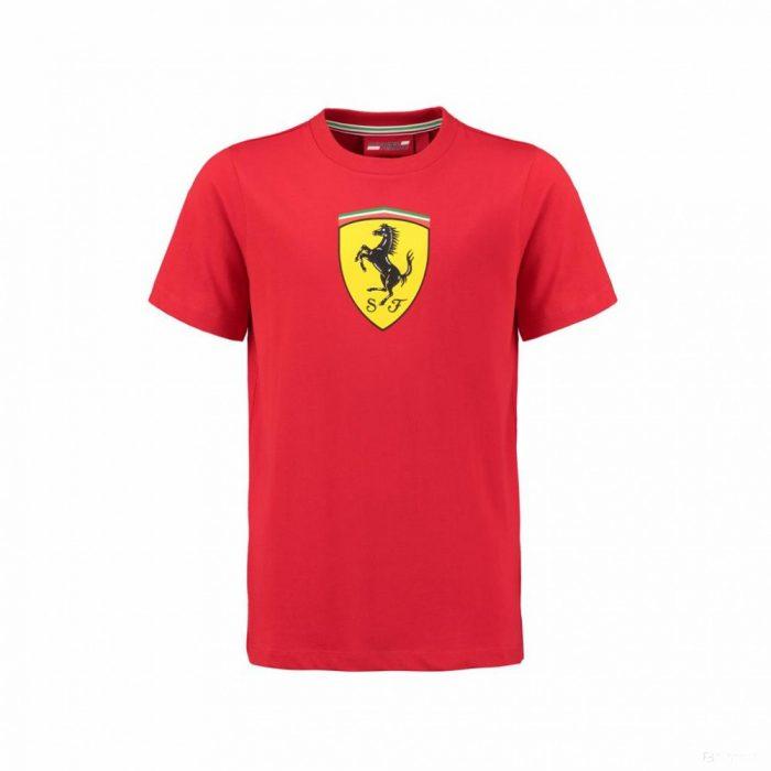 2018, Red, 128, Ferrari Round Neck Kids Scudetto T-shirt