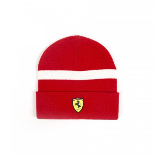 Ferrari Scudetto Beanie, Red, 2018 - FansBRANDS