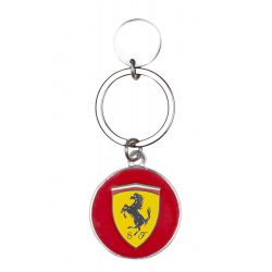 2018, Red, Ferrari Scudetto Metal Keyring