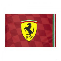 2019, Red, 90x60 cm, Ferrari Scudetto Flag