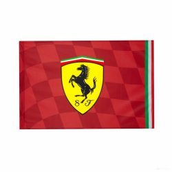 2019, Red, 140x100 cm, Ferrari Scuderia Logo Flag