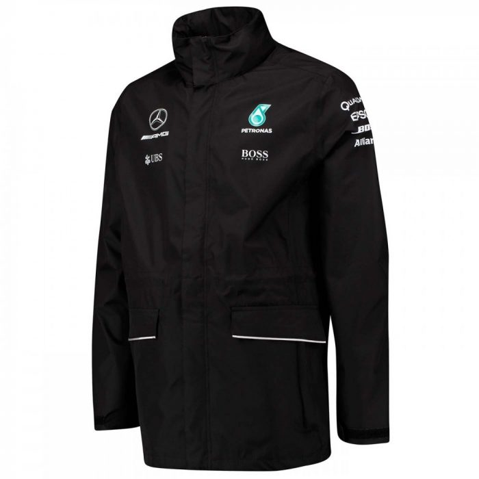2017, Black, L, Mercedes Team Jacket