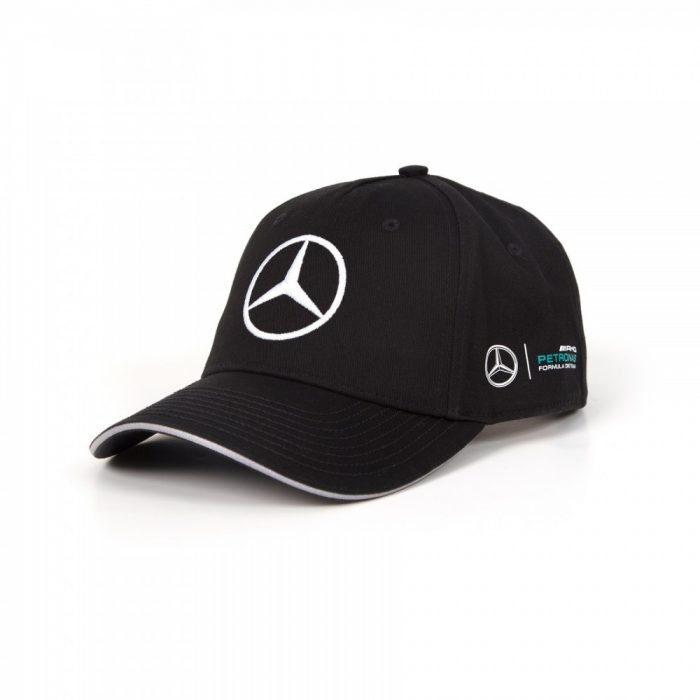 2017, Black, Adult, Mercedes Bottas Baseball Cap
