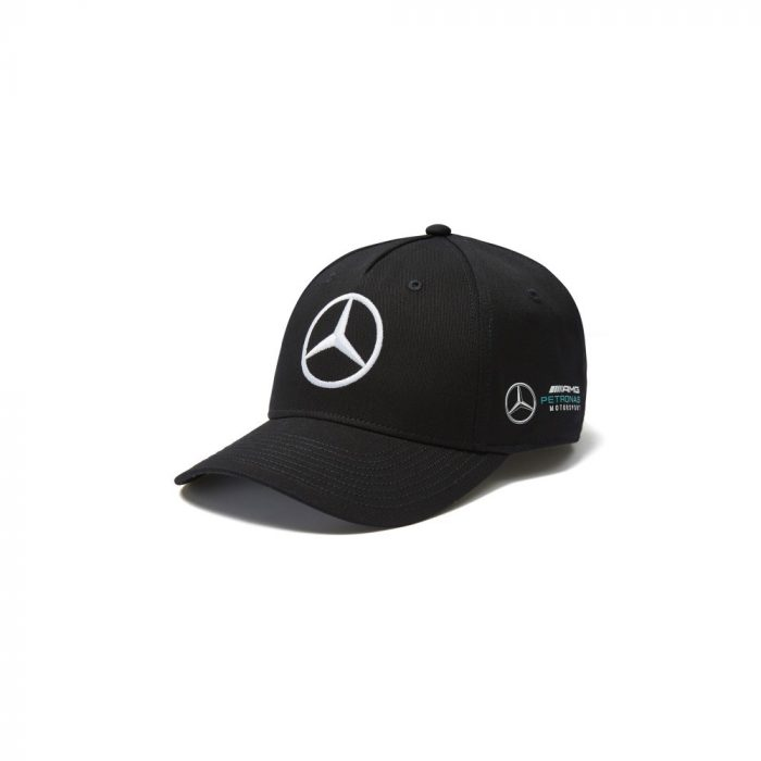2018, Black, Adult, Mercedes Team Baseball Cap