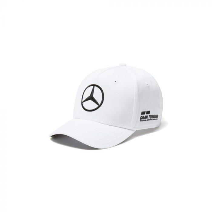 2017, White, Adult, Mercedes Hamilton Baseball Cap