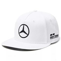 2018, White, Adult, Mercedes Hamilton Flatbrim Cap
