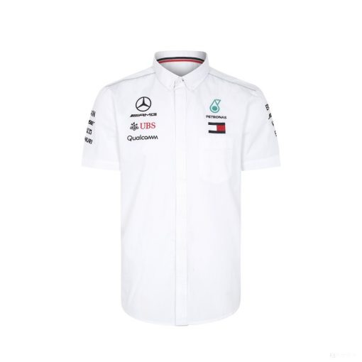 Mercedes Team Shirt, White, 2018 - FansBRANDS