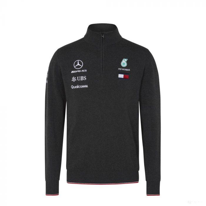 2018, Grey, S, Mercedes Team Sweater
