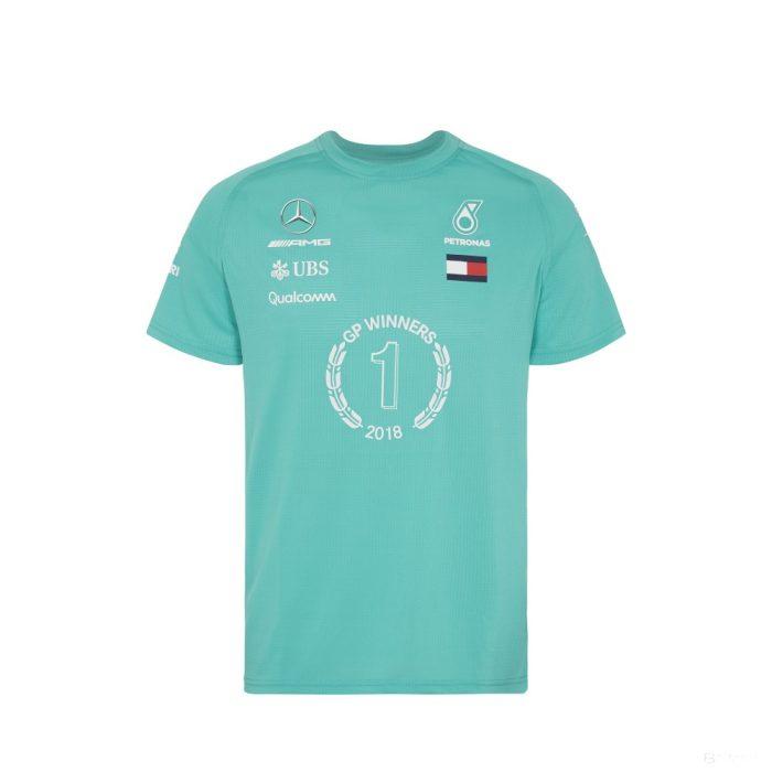 2018, Green, XXL, Mercedes Round Neck Race Winner T-shirt
