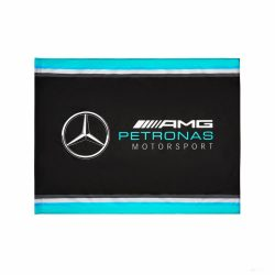 2019, Black, 90x120 cm, Mercedes Logo Flag