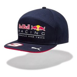 2017, Blue, Adult, Red Bull Ricciardo Flatbrim Cap