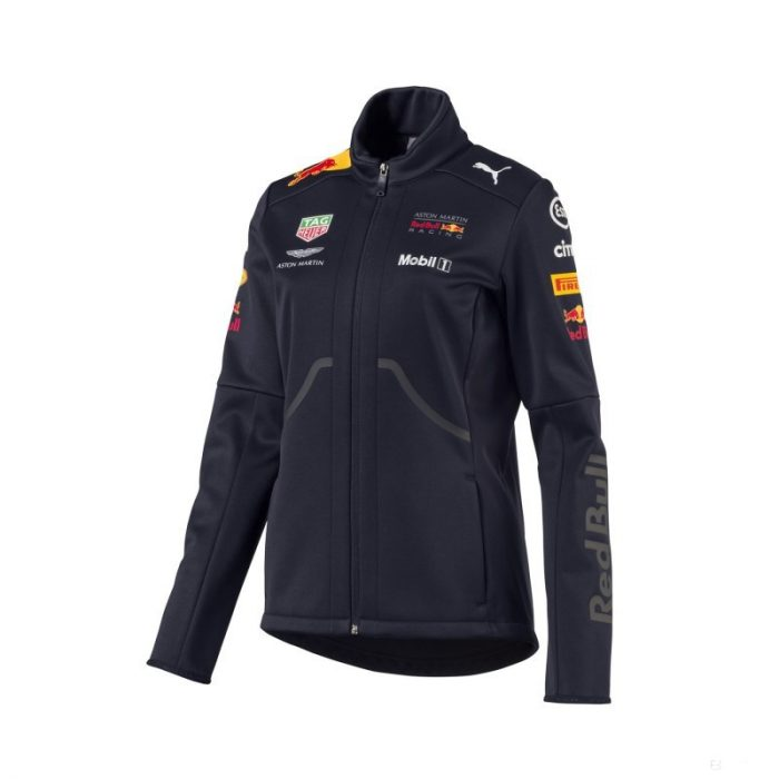 2018, Blue, M, Red Bull Womens Softshell Team Jacket