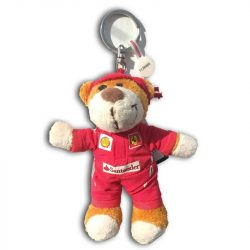 2018, Red, 11 cm, Ferrari Teddy Bear Keyring
