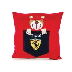 2018, Red, 30x30 cm, Ferrari Teddy Bear Pillow
