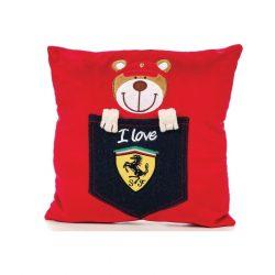 2018, Red, 30x30 cm, Ferrari Teddy Bear Pillow