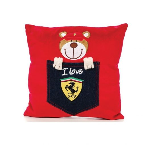 Ferrari Teddy Bear Pillow, Red, 2018 - FansBRANDS