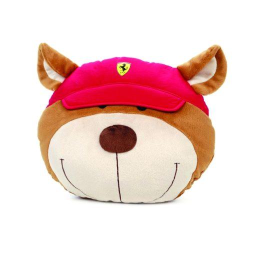 Ferrari Teddy Face Pillow, Red, 2018 - FansBRANDS