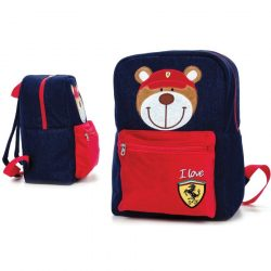 2018, Blue, 33x23x15 cm, Ferrari Teddy Bear Backpack