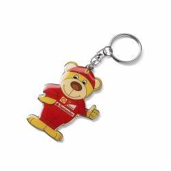 2018, Red, Ferrari Teddy Ferrari Keyring