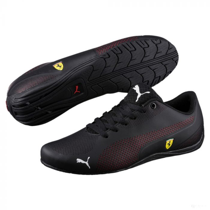 2019, Black, 40, Puma Ferrari Drift Cat 5 Ultra Shoes