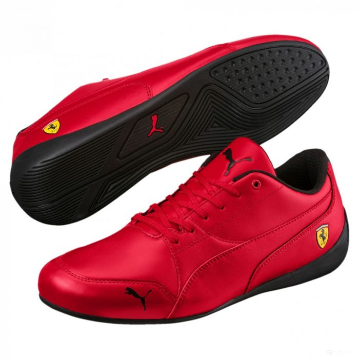2018, Red, 40, Puma Ferrari Drift Cat 7 Shoes