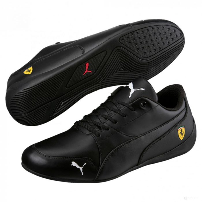 2018, Black, 40, Puma Ferrari Drift Cat 7 Shoes