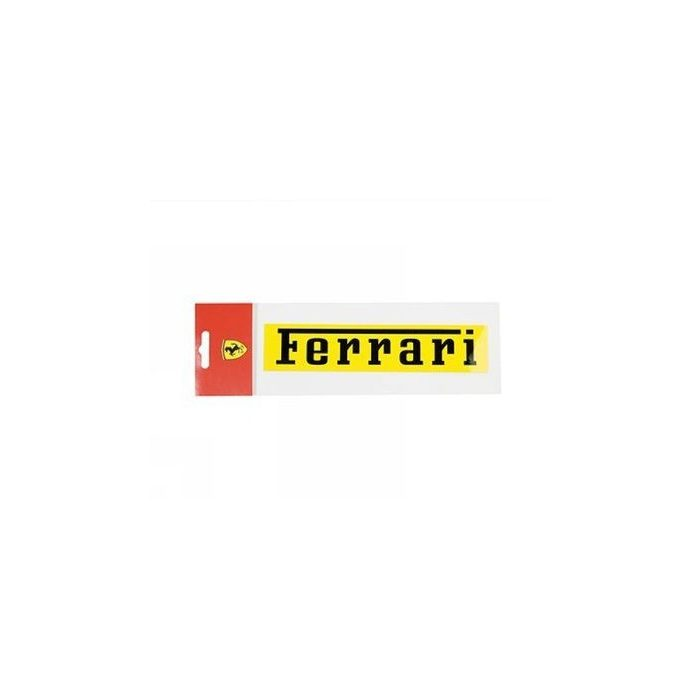 2012, Yellow, 19x4 cm, Ferrari Ferrari Sticker
