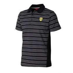 2015, Black, S, Ferrari striped Polo