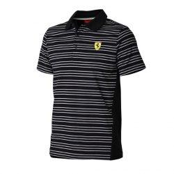 2015, Black, S, Ferrari striped Polo