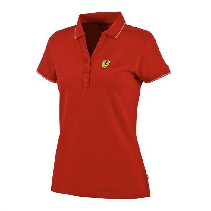 2015, Red, XS, Ferrari Womens Classic Polo